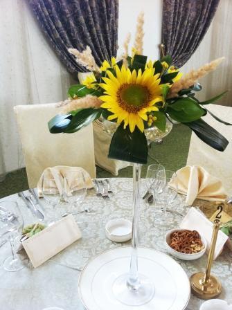 Aranjament De Masa Pentru Nunta Din Floarea Soarelui Decorațiuni