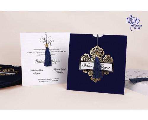Invitatii De Nunta Cu Catifea Albastra Invitaţii La Nuntă